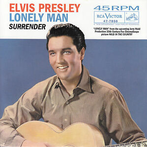 ELVIS-PRESLEY-Lonely-Man-amp-Surrender-PICTURE-SLEEVE-RED-VINYL-7-034-45-record-NEW