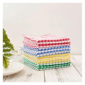 12 Pcs Dish Cloth 100 Cotton Kitchen Towels Lot Set White 11 X17 Mix Color