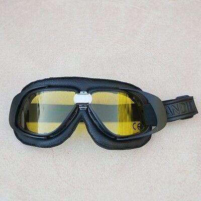 Gafas//Googles//Brille Bandit simil cuero negro con cristales color amarillo