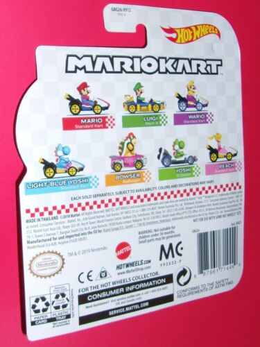 Hot Wheels Mario Luigi Peach Yoshi Bowser Toad Wario Koopa Mariokart U PICK