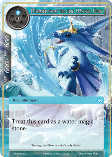 4X Manservant to the Water God -Uncommon- RDE-022 -NM- FoW Return Dragon Emperor