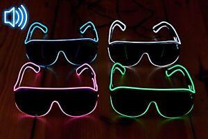 neue niedrigere Preise neueste kaufen professionelles Design Details zu LED-Sonnenbrille Partybrille Blinkbrille Festival LED Rave  gadget ©Ucult