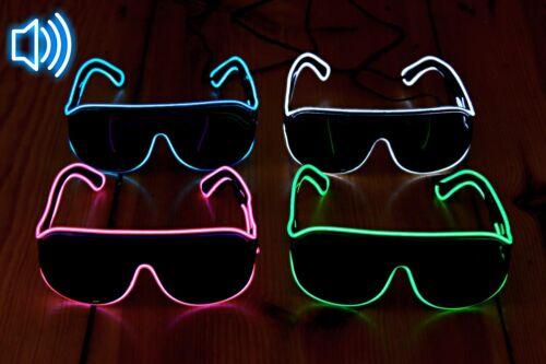 LED-Sonnenbrille Partybrille Blinkbrille Festival LED Rave gadget ©Ucult