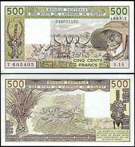 West African States (T) TOGO 500 Francs, 1985, AUNC / UNC, P-806Th