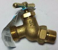 No Kink 1/2 X 3/4 Mht Rough Brass Finish Hose Bib