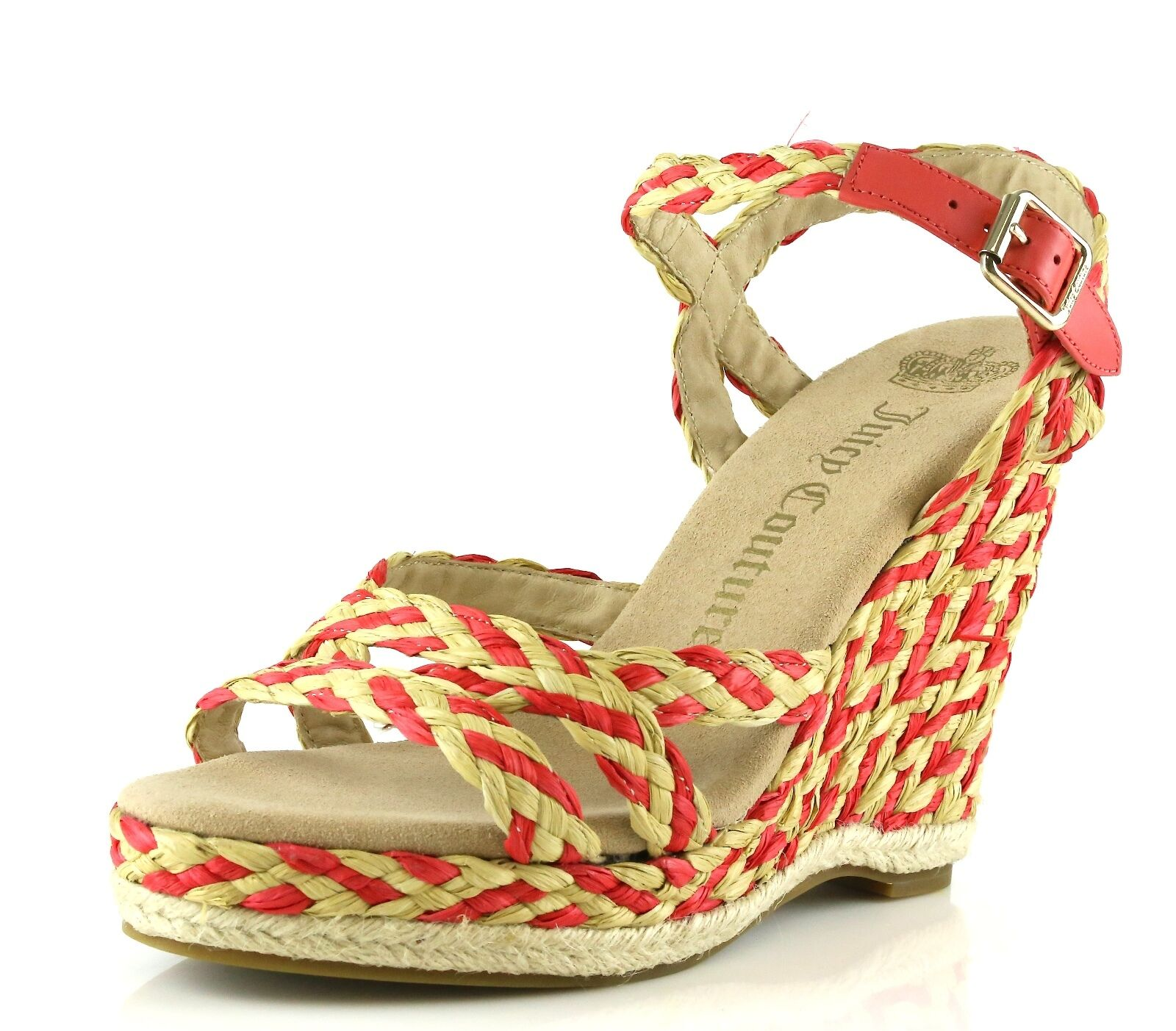Juicy Couture FERNANDA Coral Wedge Sandals 7027 Size 7 M NEW!
