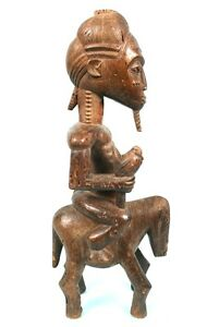 Art-Africain-Magnifique-Cavalier-Baoule-Collectible-African-Art-Item-56-cms