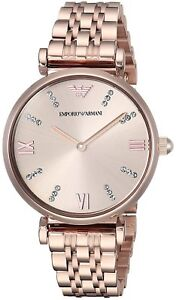 Certificate Hell In Farbe 2 Years Warranty New Emporio Armani Ar11059 Ladies Rose Watch