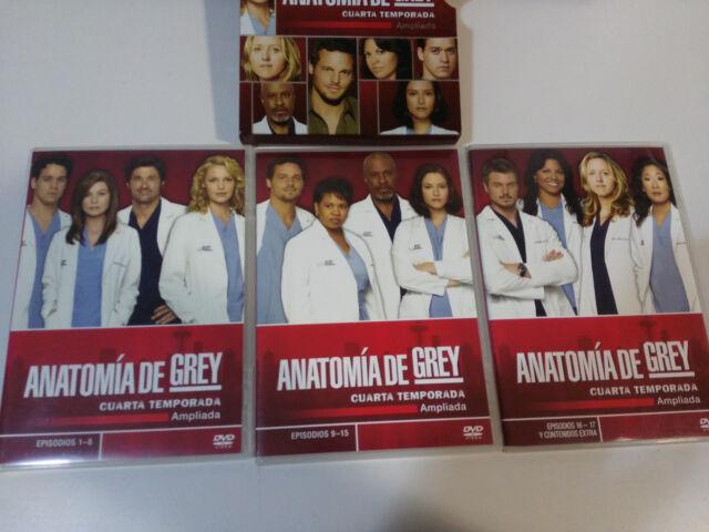 Anatomy Grey Fourth Season 4 Expanded - 5 X DVD Extras Spanish ...