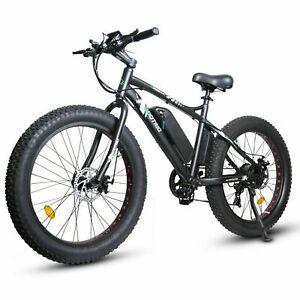 "ECOTRIC 26"" Fat Tire Electric Bicycle 500W 36V e-Bike Mountain Beach City eBike"