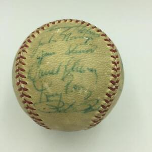 1970-Cincinnati-Reds-National-League-Champs-Team-Signed-Game-Used-Baseball-JSA