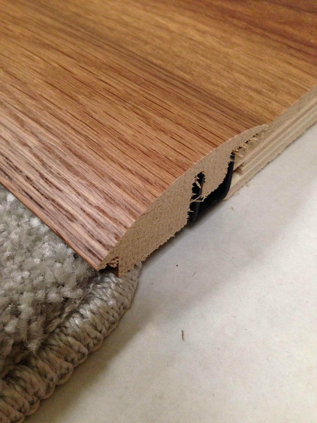 Solid Carpet Wood Semi Ramp Floor Trims Door Threshold