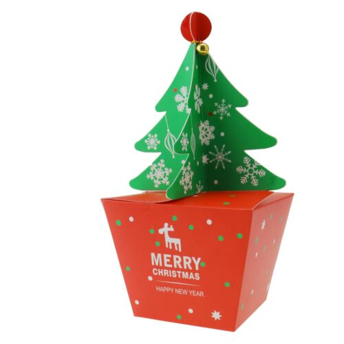 10//20 Stücke 3D Weihnachtsbaum Eve Santa Geschenke Box Favor Geschenk Süßigke