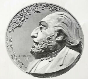Leon Gambetta Médaillon 1883 Signé Ringel D'illzach Lot 2 Gravures éssaie