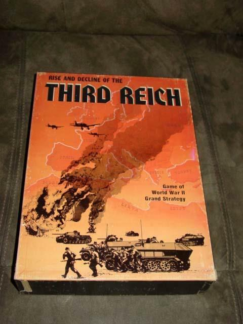 Avalon Hill 1974 - Rise e Decline  of the THIRD REICH - 2nd Edtion (UNPUNCHED)  per il commercio all'ingrosso