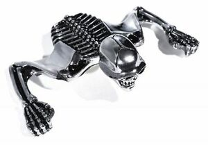 Calavera-esqueletico-SKULL-Visera-CROMO-Ornamento-para-TRIUMPH-KAWASAKI