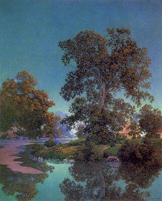 Maxfield-Parrish-Ottauquechee-River-22x30-Hand-Numbered-Ltd-Ed-Art-Deco-Print