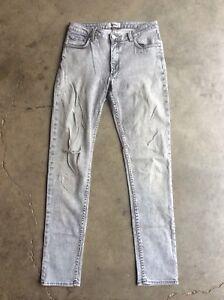 Acne-Flex-S-London-Skinny-Jeans-sz-31-x-32-Gray