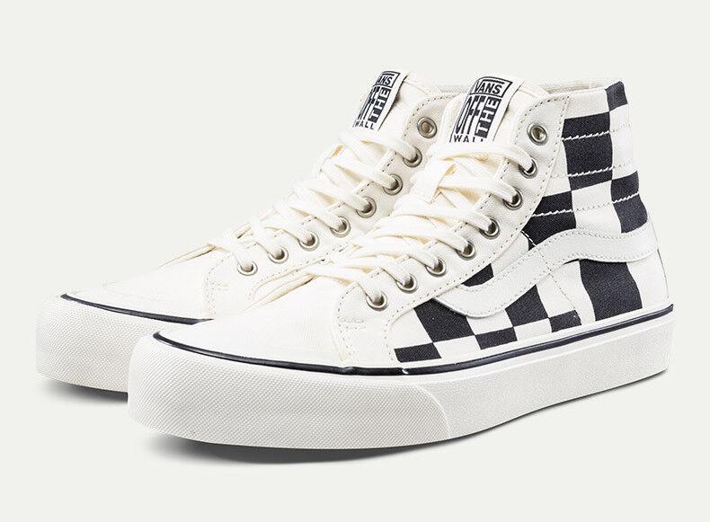 Original Vans SK8-Hi 138 Decon VN0A3MV1UPY Black White Checker Canvas Casual Men