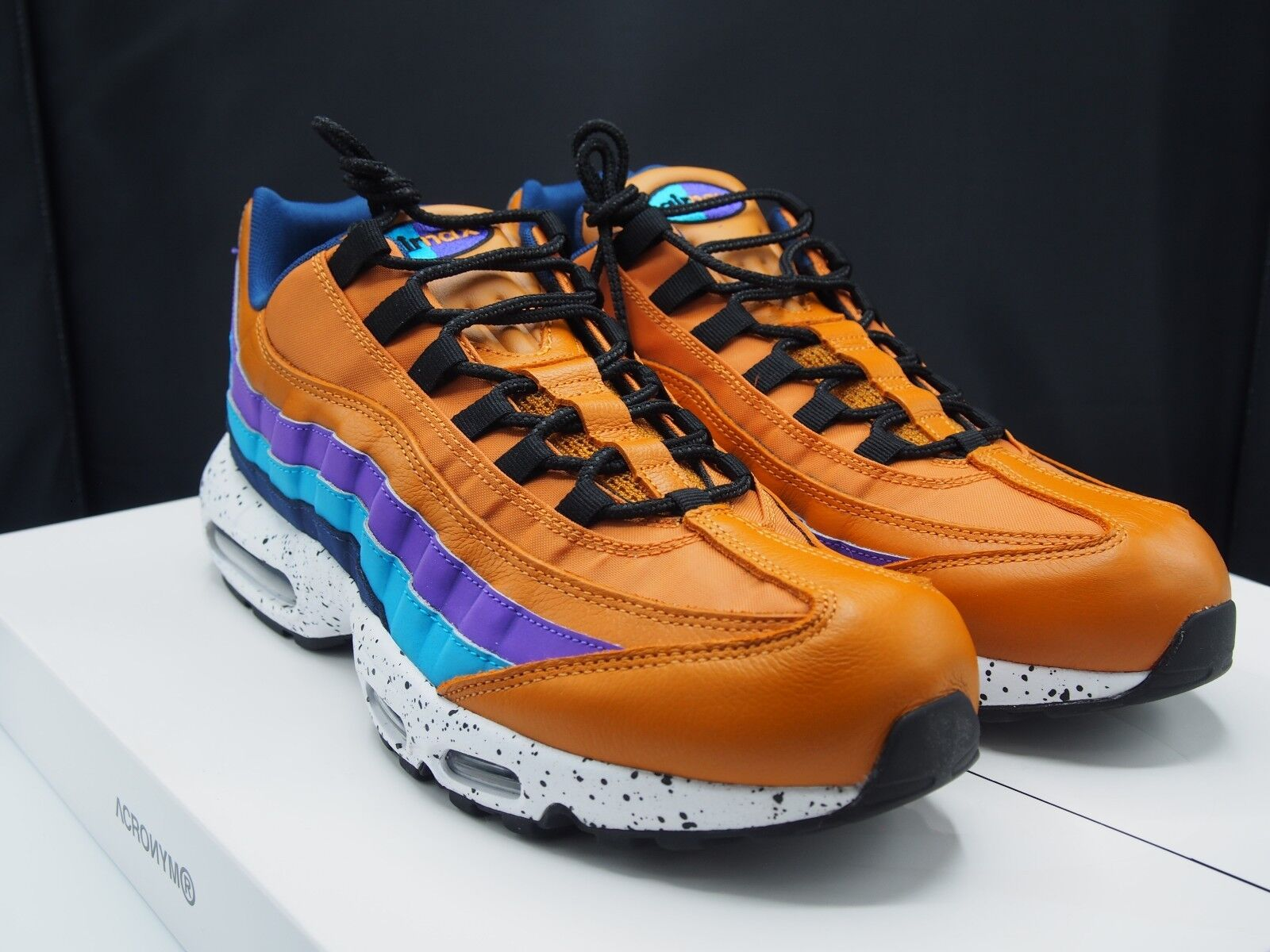 a7d30cb1df Nike Air Max 95 PRM Size 11.5 Shoes Premium Men's Monarch Blue Fury ...