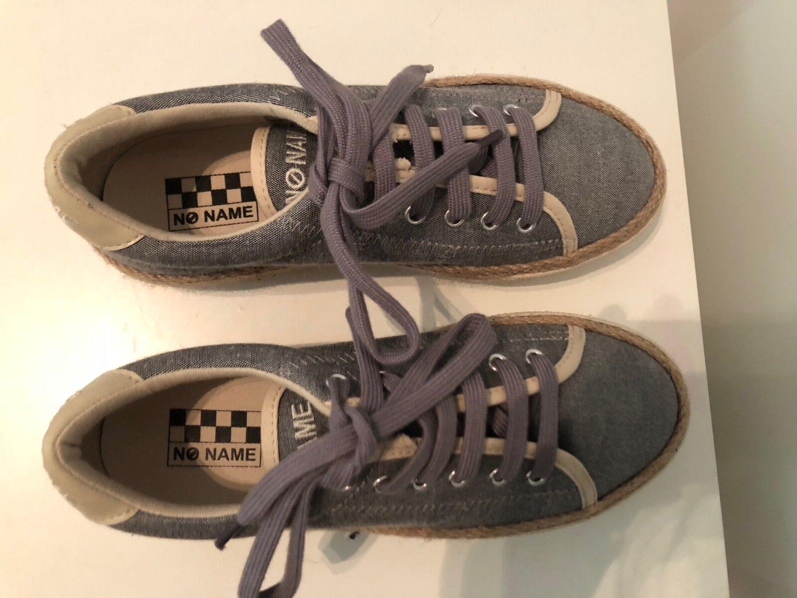 No Name Sneaker Sneakers Plato Blau Grau Sneaker Name Leinen SIZE 37 NEW Damenschuhe DAMEN 9983ef