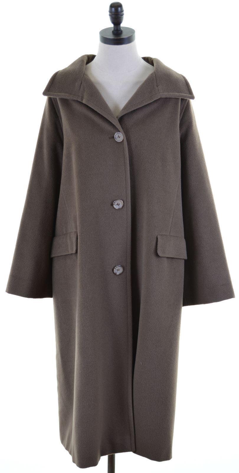 MAX MARA Womens Overcoat Small Brown Wool  IB02