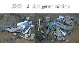 1-35-Resin-Fallen-German-Soldiers-3-Dead-Figures-unpainted-unassembled-35420-1