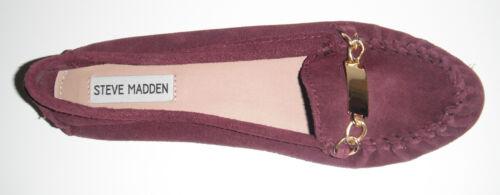 New Madden mocassino pelle Shoe 8 5 Meera On Steve Slip Borgogna Donna m scamosciata 6rq6S