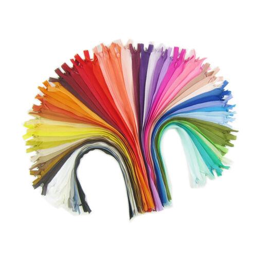 18 Stü 40 Cm Mehrfarbige Nylon Unsichtbare Reißverschlüsse