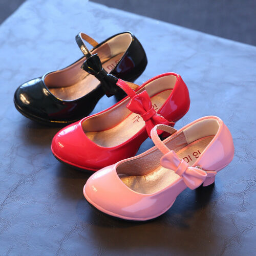 2017 Girls Childrens High-heels Kids High Heeled Princess Bridesmaid Dance Shoes