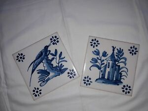 Antiques Two Portuguese Tiles Promote The Production Of Body Fluid And Saliva