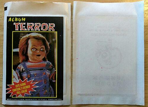 RARE 1980/'s PERU ALBUM TERROR SEALED PACK FREDDY KRUEGER//CHUCKY NAVARRETE HORROR