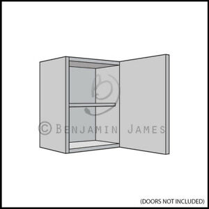 Image Is Loading Kitchen Carc Unit Single Wall Cabinet 575mm High