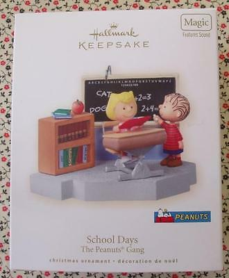 Hallmark 2008 Peanuts Gang School Days Linus Teacher Magic Christmas Ornament