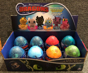 How To Train Your Dragon Legends Evolved Dragons Plush Egg Set of 6 Eggs NEW