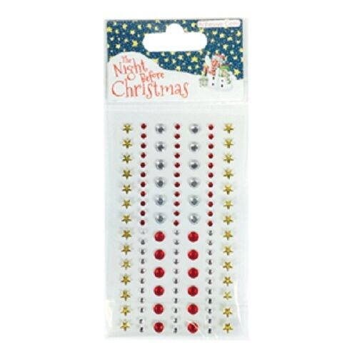 /'The Night Before Christmas by Helz Cuppleditch/' Adhesive Gemstones *Free UK P+P