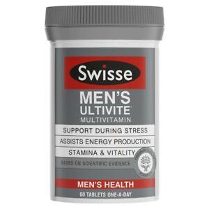 Swisse Men's Ultivite Multi Vitamin Tablets 60pk