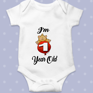 12 MONTHS OLD MILESTONE Baby Grow  Bodysuit Personalised Baby gift 1yr