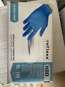 Guanti in nitrile blu grip monouso senza Polvere Taglia XL