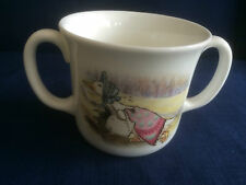 Royal Doulton Beatrix Potter Jemima Puddleduck 2 handled mug