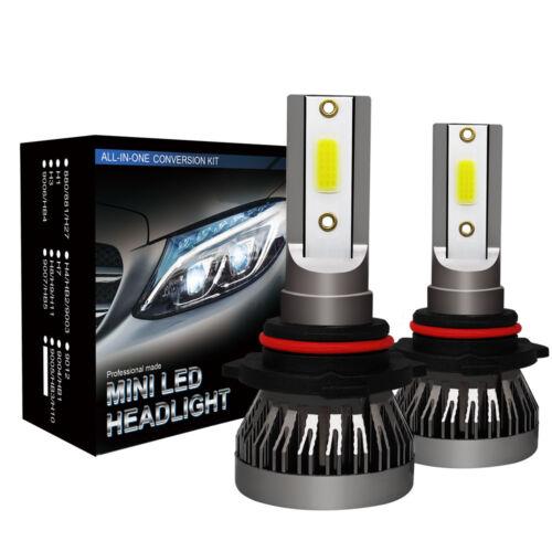 2x 9005 COB LED Headlight Kit HB3 1300W 220000LM High Beam Bulb 6000K White Lamp