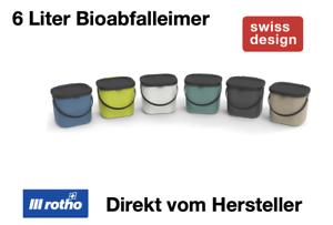 Rotho Albula Biomülleimer 6 L mit Deckel und Griff Küche Kunststoff BPA-frei