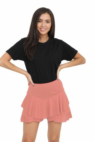 XL Ladies Girls Neon RARA Mini Skirt 80s Dance Club Fancy Women Frill Short S