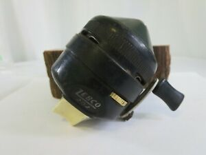Vintage-Zebco-202-Spincasting-Reel-Metal-Foot-Made-in-USA-ED