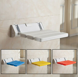Image Is Loading Wall Mounted Foldable Stool Bathroom Shower Seat Folding