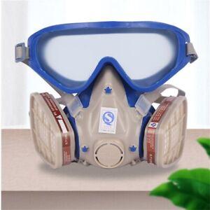 Vollgesichtsmaske Sprühfarbe Gesichtsschutz mit Schutzbrille Gas Chemische Maske