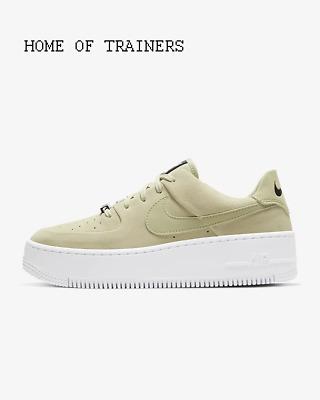 Nike Air Force 1 Salbei Niedrig Olive Aura Weiß Schwarz Mädchen Damen Turnschuhe | eBay