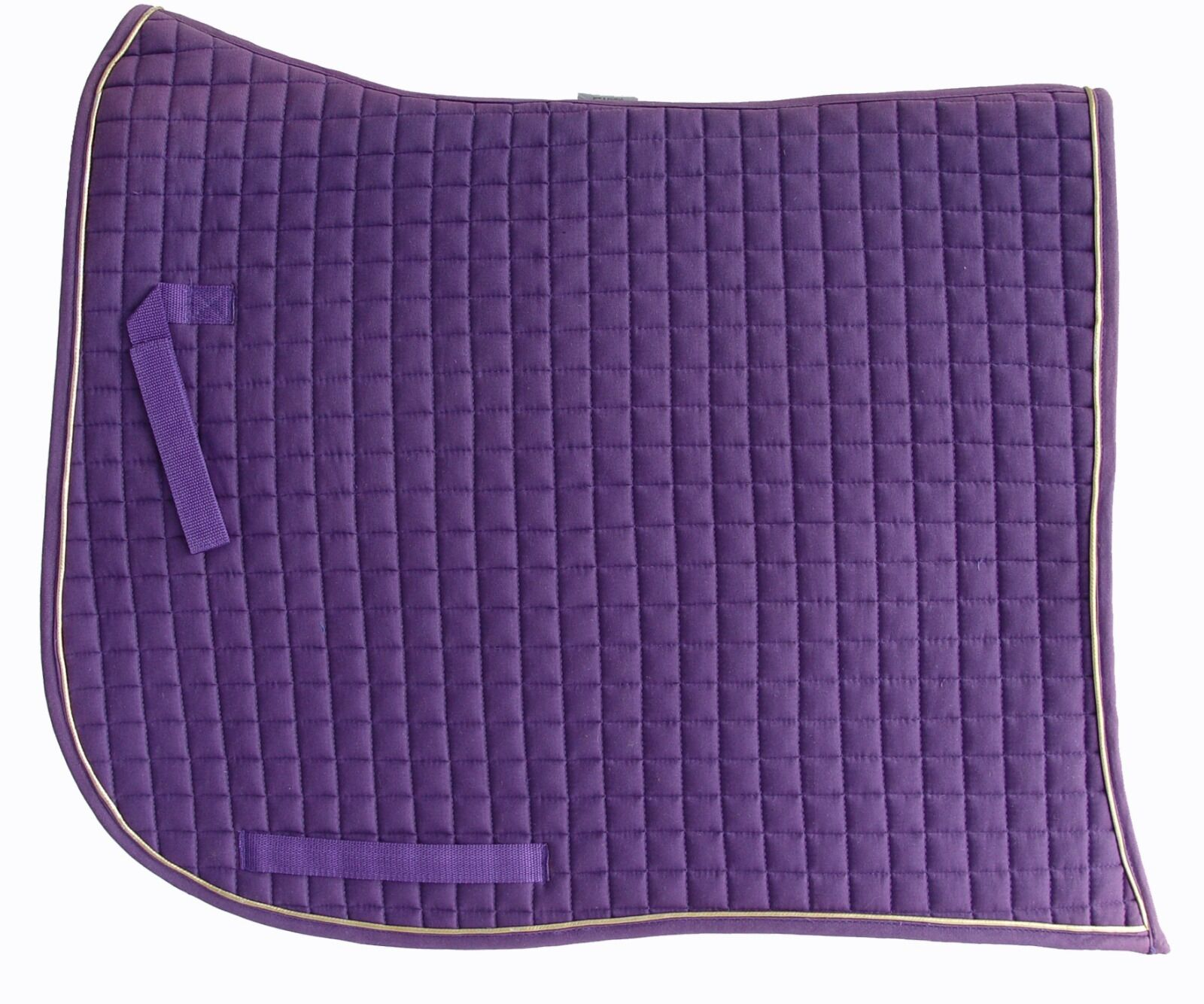 PRI Dressage Pad: Swan-tail, Swan-tail, Pad: Equu-Felt Quilt, Wither Relief, Farbe: lila/Gold d2a9e1