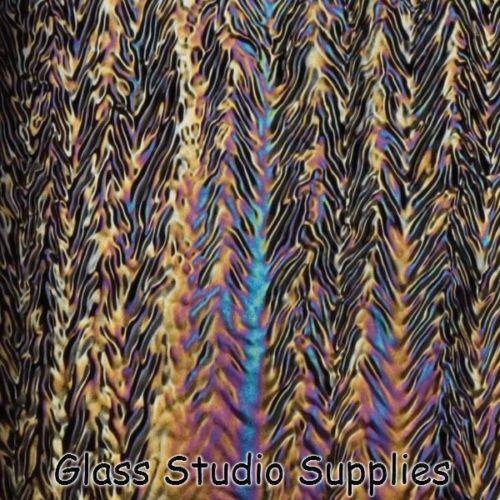 Negro Herringbone ondulación Irid hornos de fusión de vidrio 100-25