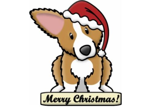 Natale Cane Grande appiccicoso White Paper ADESIVI ETICHETTE NUOVO